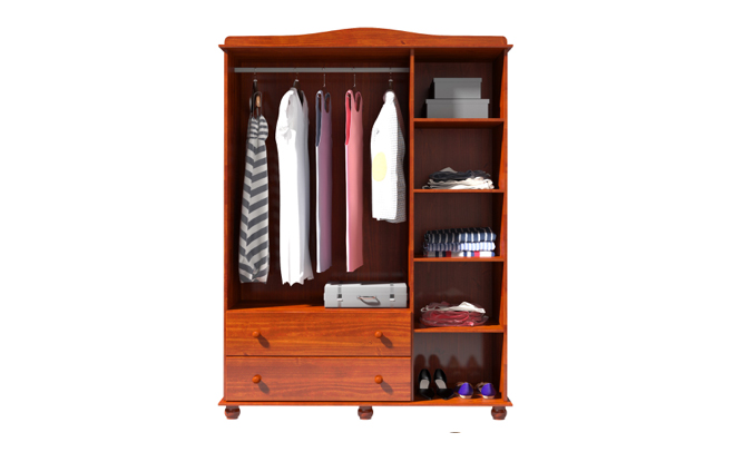 3 Door Solid Wood Wardrobe U2013 2703